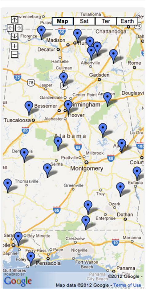 Alabama State Parks Map