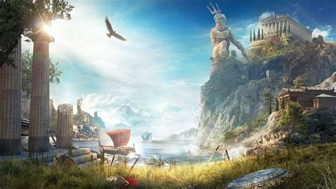 cover art background  assassins creed odyssey art