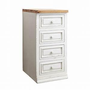 meuble bas de cuisine en manguier blanc l 40 cm eleonore With meuble de cuisine maison du monde 0 meuble bas de cuisine avec evier en manguier blanc l 140