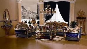 azura luxury sofa set 24kt gold plated sofa set With living room furniture sets dallas