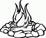 Coloring Fire Camp Wecoloringpage sketch template