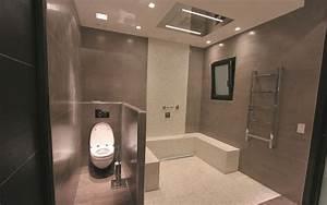 Douche Salle De Bain : douche pluie dans salle de bain chic les bains et cuisines ~ Melissatoandfro.com Idées de Décoration