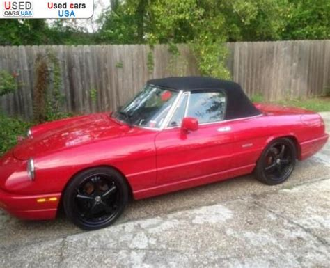 1993 Alfa Romeo Spider For Sale by For Sale 1993 Passenger Car Alfa Romeo Spider Insurance