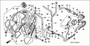 Oem Honda Fuel Tap O-ring - Rd07  07a  1993 - 03
