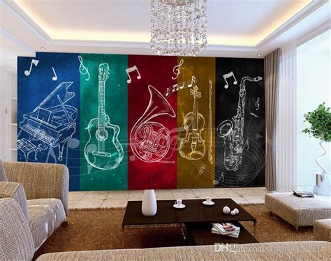 trendy musical instrumental  bar background wall