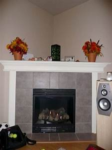 Grey, Tile, Faced, Electric, Corner, Fireplace, Ugh, On, The, Junk, In, The, Pic