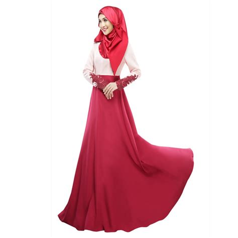 maxi arabian 2017 autumn dress muslim dresses vintage kaftan