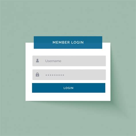 Simple Login Template Vector