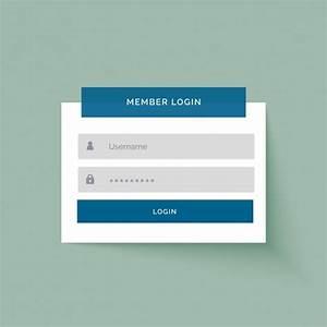 Simple login template Vector