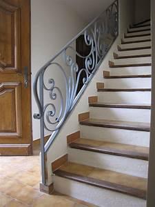 Rampe D Escalier Moderne : rampe d 39 escalier en fer forg sur mesure hv creation ~ Melissatoandfro.com Idées de Décoration