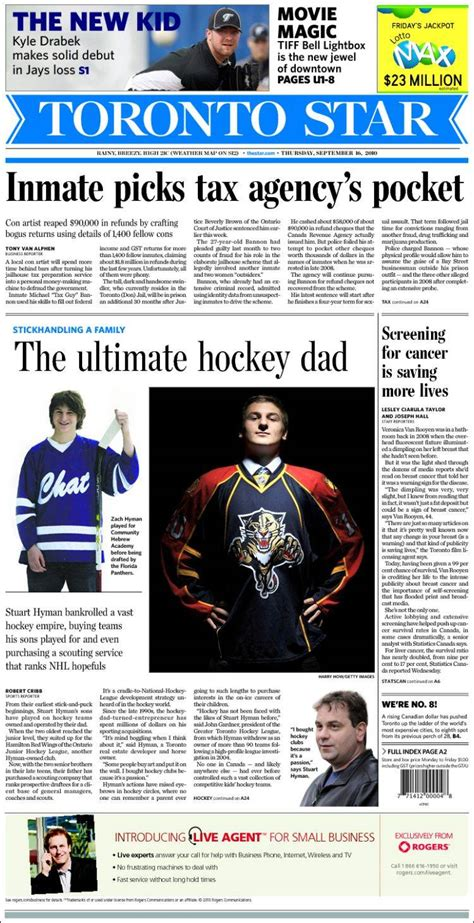 newspaper  toronto star canada front pages
