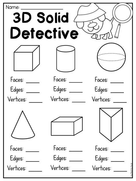 grade    shapes worksheets distance