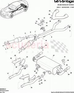 Aston Martin V12 Vantage Exhaust System Parts