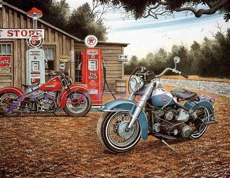 Images For> Vintage Motorcycles Posters