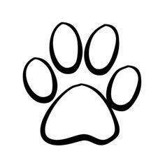 draw  cat paw print cat pinterest