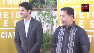 Darren Criss Accepts Donation From Hfpa On Behalf Of Unicef Philippines