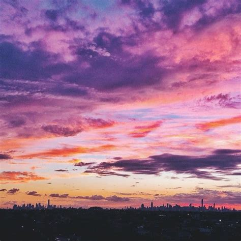 sunset   york city  lovely sky beautiful