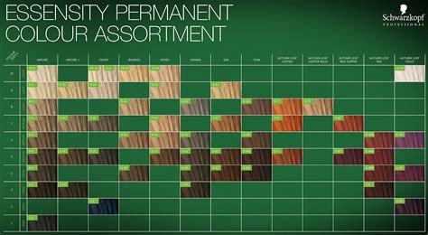Permanent Hair Color Chart