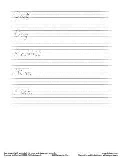 printable handwriting pages home school worksheets