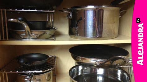organize pots pans lids   kitchen youtube
