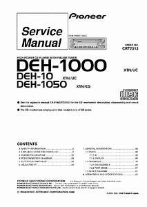 Pioneer Deh P4100 Wiring Diagram