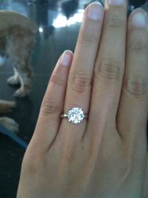 2 carat engagement ring solitaire rings 2 carat
