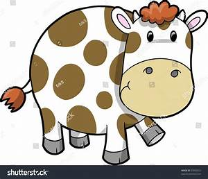 Cute Cow Vector Illustration - 33992023 : Shutterstock