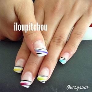 French Manucure Couleur : ongles en gel french couleur ~ Nature-et-papiers.com Idées de Décoration