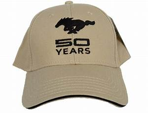 Ford Mustang Hat 50th Anniversary Embroidered Cap   Embroidered caps, Hats, Ford