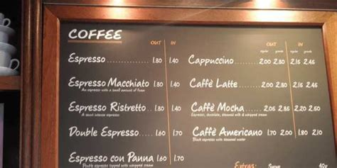 Uk Coffee Prices Compared  Which Chain Is The Cheapest?