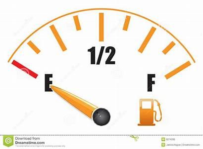 Gauge Fuel Clipart Tank Meter Empty Gas