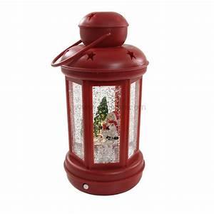 Lanterne De Noel : lanterne de no l bonhomme de neige rouge illumination pour la table eminza ~ Teatrodelosmanantiales.com Idées de Décoration