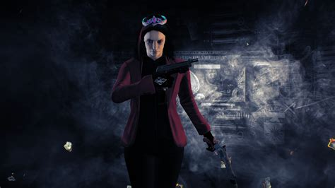 black red suit  clover payday  skin mods