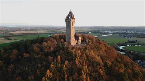 stirling castle wallace monument mavic pro drone footage youtube