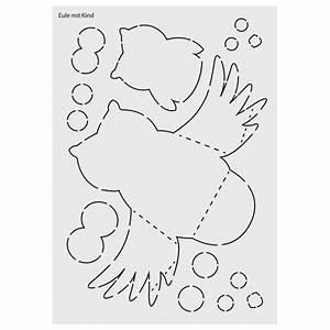 Eulen Basteln Vorlagen Zum Ausdrucken : design schablone nr 1 eule mit kind din a4 design ~ Lizthompson.info Haus und Dekorationen