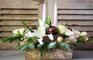 Art Floral Centre De Table Noel : centre de table b che de no l blanche centre de table de no l ~ Melissatoandfro.com Idées de Décoration
