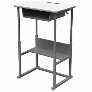 Sit-stand Manual Adjustable Desk
