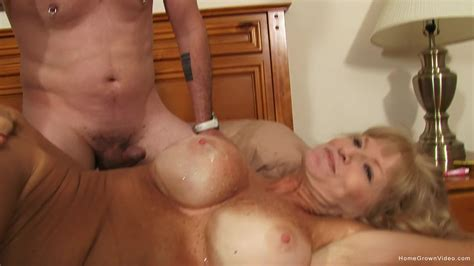Expressive Blonde Mature Slut Shows Off With A Younger