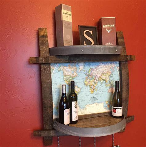 wine barrel shelf how to build a whiskey barrel coffee table