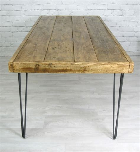 hairpin leg vintage industrial dining table   cm
