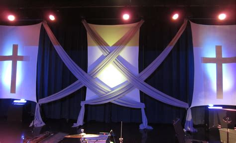 portable fabrics church stage design ideas