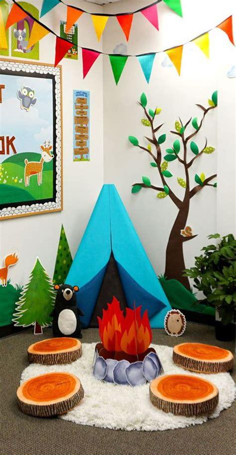 woodland friends classroom reading corner camping set