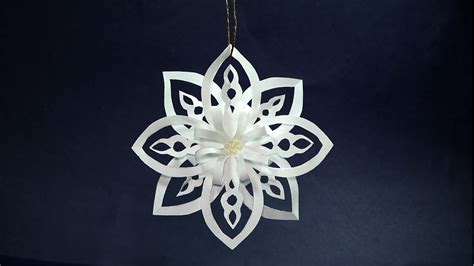 paper snowflakes easy diy christmas