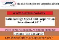 National High Speed Rail Corporation Recruitment 2017– 18 ...