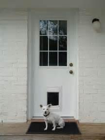 Security Screen Door with Dog
