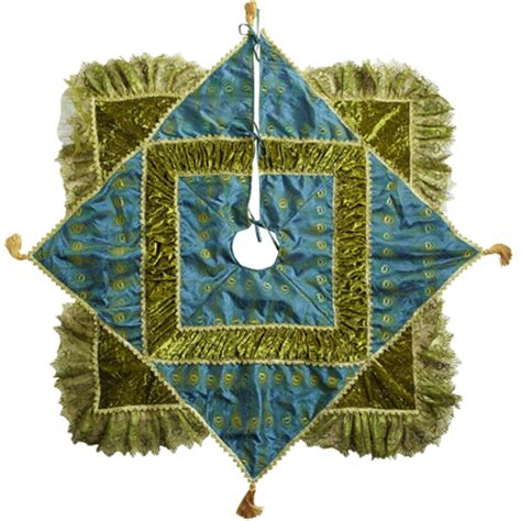 peacock tree skirt everything turquoise