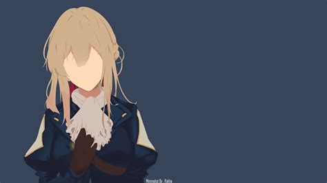 Simple Anime Wallpaper - wallpaper violet evergarden minimalism simple