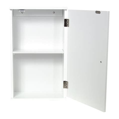 wall mounted cabinet bathroom white single double door