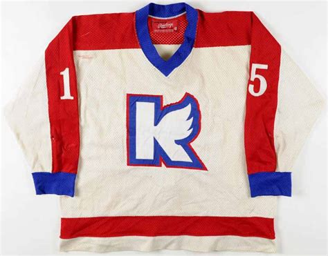 circa late  kalamazoo wings game worn jersey