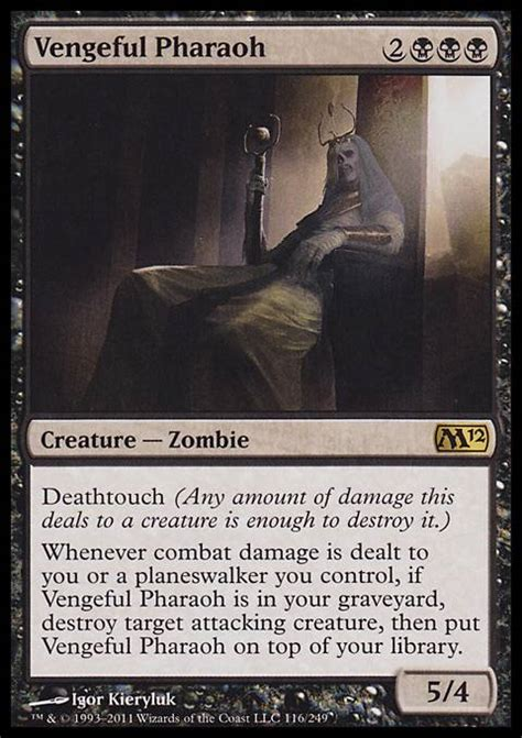 mtg black deathtouch deck vengeful pharaoh m12 mtg card